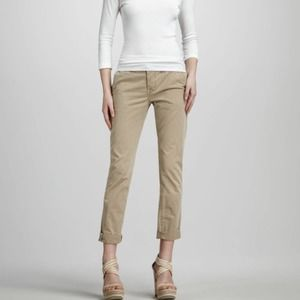J Brand for Theory Inez cropped chinos light sage